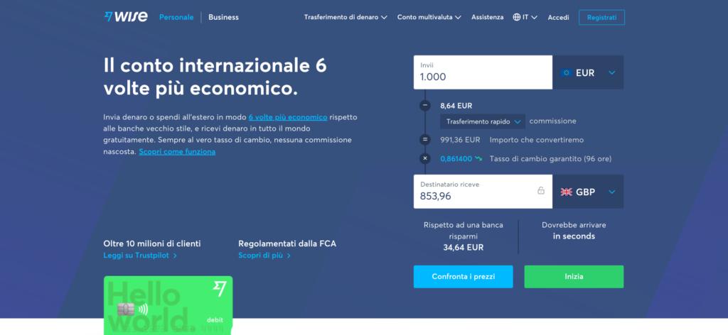 Come trasferire denaro da PayPal a Wise (TransferWise)